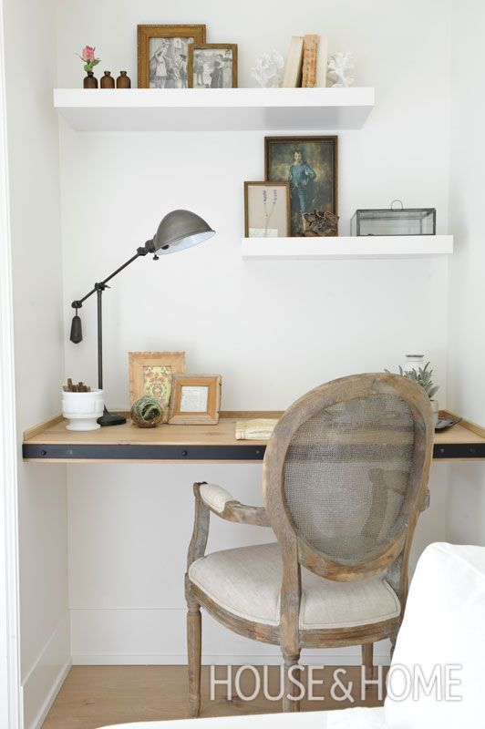 detailed look 2d37d 101f5 A purpose-built floating desk and offset shelves creates a ...