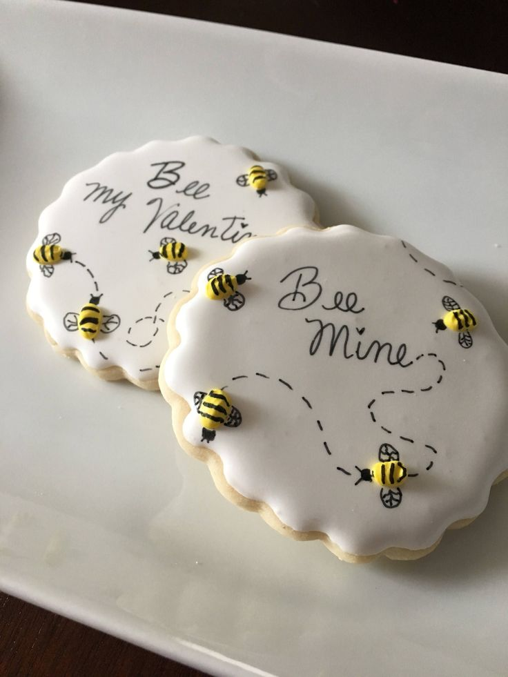 A personal favorite from my Etsy shop https://www.etsy.com/listing/569979116/be-my-valentine-bumblebee-cookies