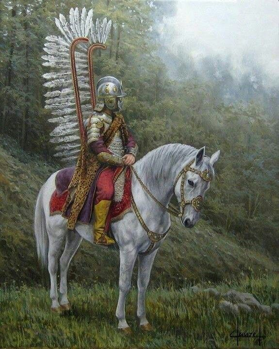 """Me""  The Polish Winged Hussar, Capricorn goat mountain duty:  I'm keeping it safe!!"