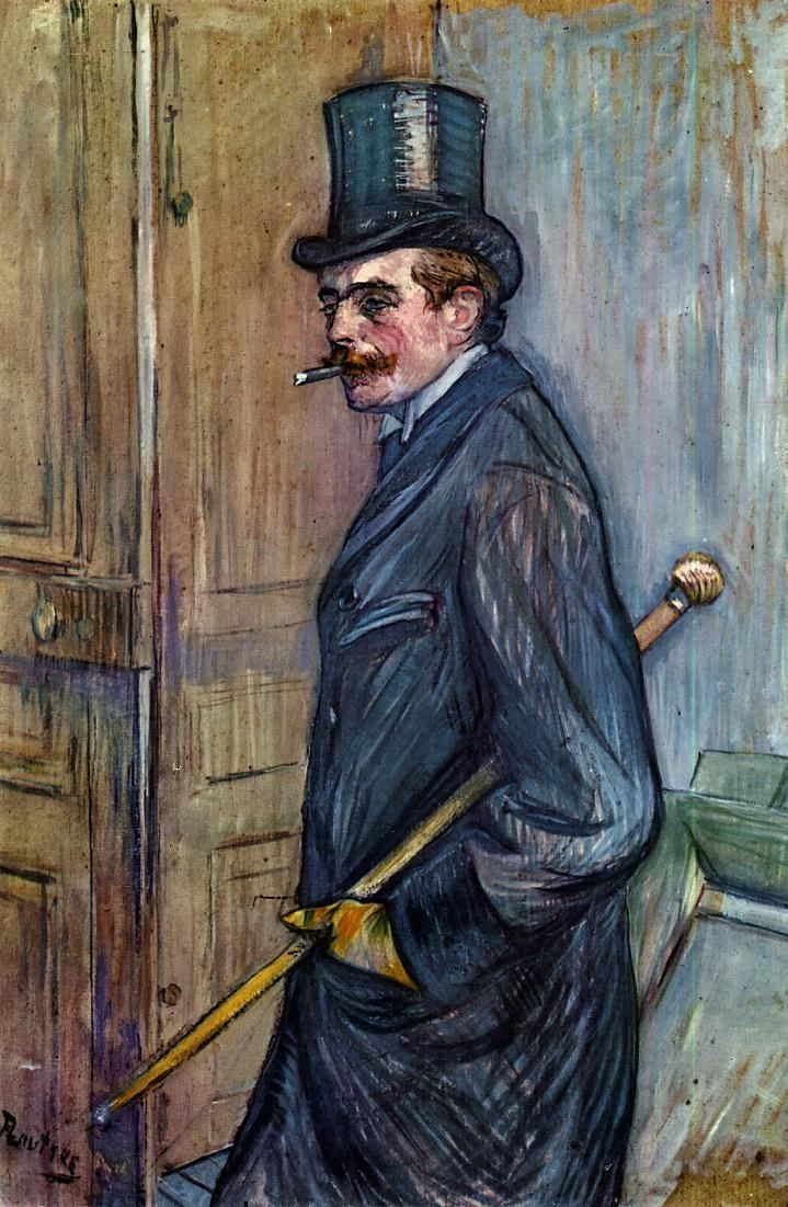 Louis Pascal (Henri de Toulouse-Lautrec - 1892) -repinned by http://LinusGallery.com #art #artists #oilpainting