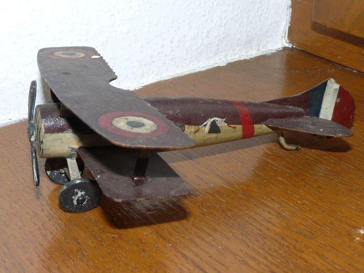 Superbe rare ancien jouet de 14 - 18 avion de chasse Français SPAD des cigognes | eBay