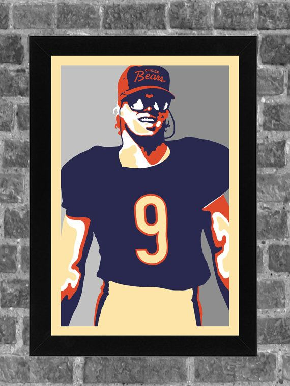 Chicago Bears Jim McMahon Portrait Sports Print Art 11x17