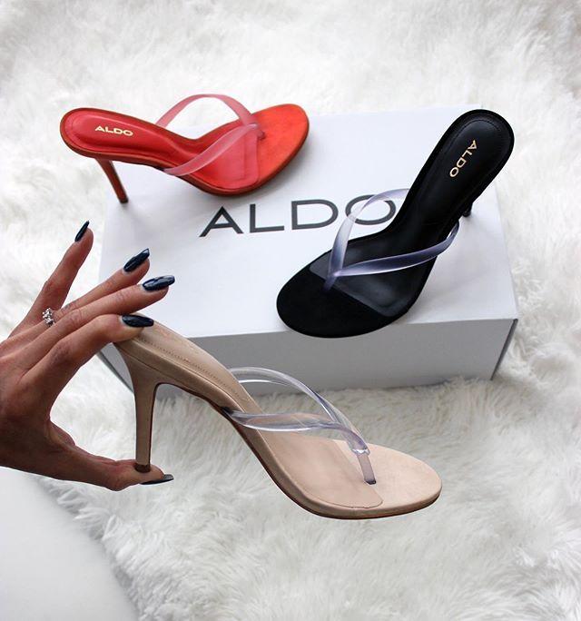 aldo red strappy heels
