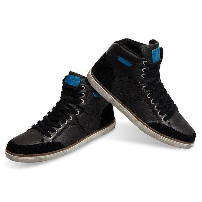 Wysokie Trampki Xf117 Czarny Czarne Sneakers High Sneakers Sneakers Men