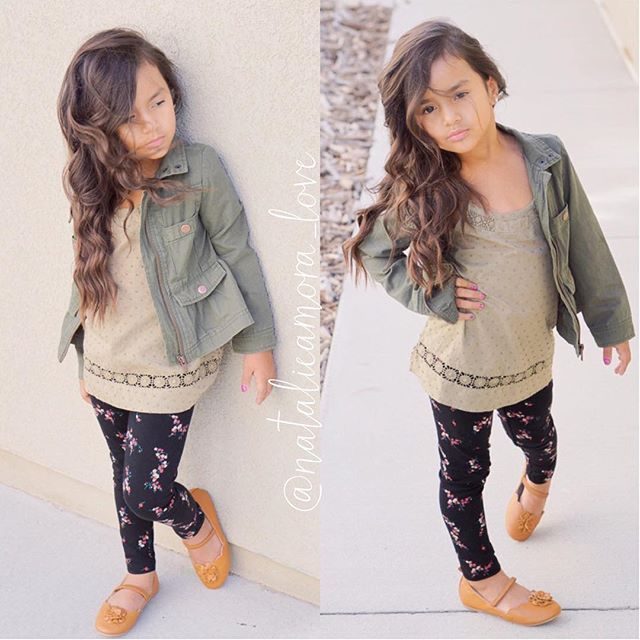 Back to school series Outfit idea #1 The whole outfit is from Old Navy  Green jacket from children's place last year but I just seen one at target that's very similar #ootd #backtoschool