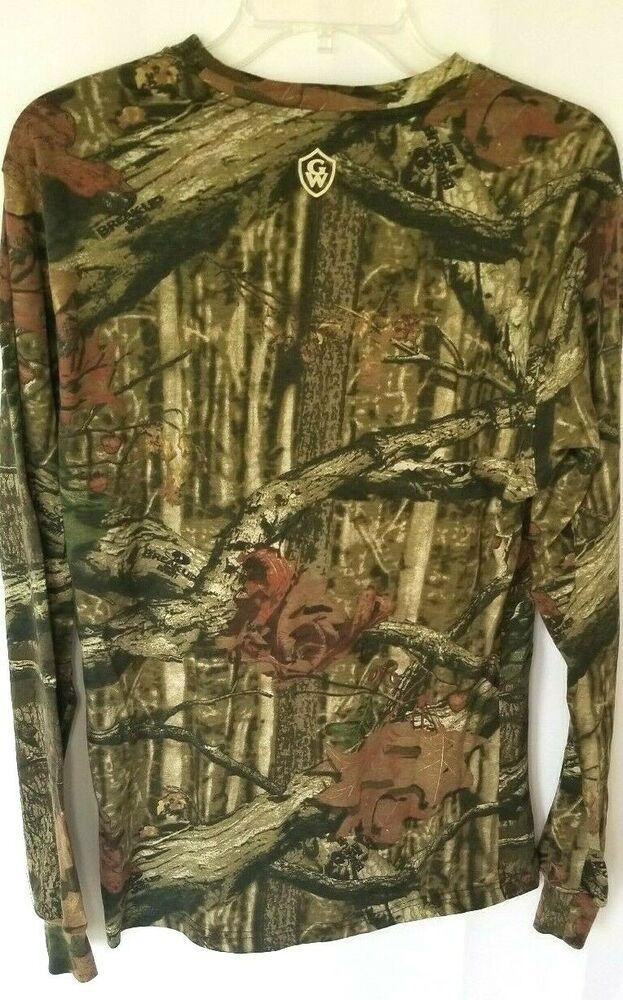 786f2e13018ec Game Winner Camo Shirt Mens Size Small Long Sleeve Thermal T-Shirt Hunting  Wear #