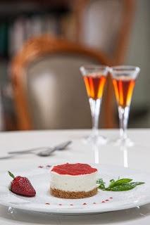 "Dessert  accompanied with ""Vinsanto"" - La Maltese Estate Santorini"