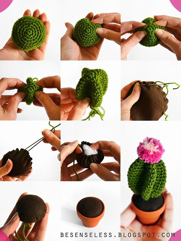 Amigurumi Cactus - Tutorial ❥ 4U //  looks really simple, a great holiday gift!