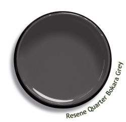 Resene Quarter Bokara Grey is a warm ashen grey with a smouldering heart. Try Resene Quarter Bokara Grey with greyed whites, burnt brown purples or grey mushroom beiges, such as Resene Double House White, Resene Ninja or Resene Balance. From the Resene The Range fashion colours 18. Latest trends available from www.resene.com/range18. Try a Resene testpot or view a physical sample at your Resene ColorShop or Reseller before making your final colour choice.