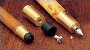 Veritas® Brass Cane Tips - Hardware
