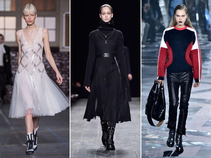 Bota estilo militar (John Galliano, Louis Vuitton, Valentino) - Depois das botas de cano altíssimo, a aposta agora é no modelo punk chique, que lembra as clássicas Doctor Martens