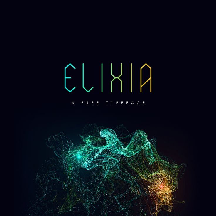 ELIXIA Free Font Free Fonts Condensed Decorative Free Futuristic Geometric…