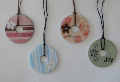 Necklaces made out of washers!