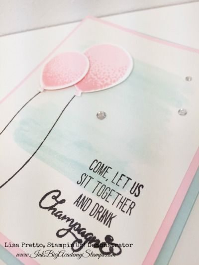 One of my favorite bundles in the Stampin'Up! Occasions catalog is the Balloon Celebration stamp set and coordinating Balloon Bouquet Punch. I love bundles because of the perfectly matched products and the 15% savings, and this one is just delightful. Details: Colors: Whisper White, Soft Sky, Pink Pirouette, Blushing Bride,and Tuxedo Black Memento Ink The …