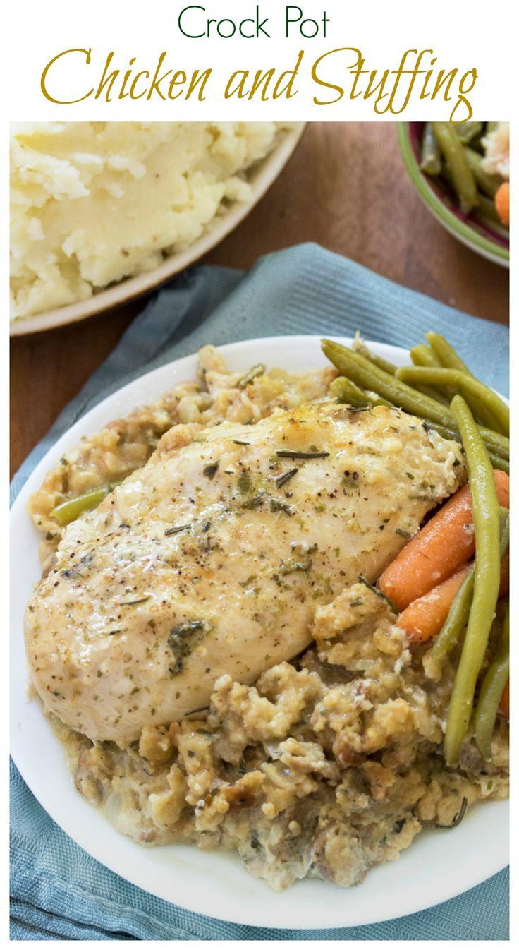 Best 25+ Crockpot chicken and stuffing ideas on Pinterest | Easy ...