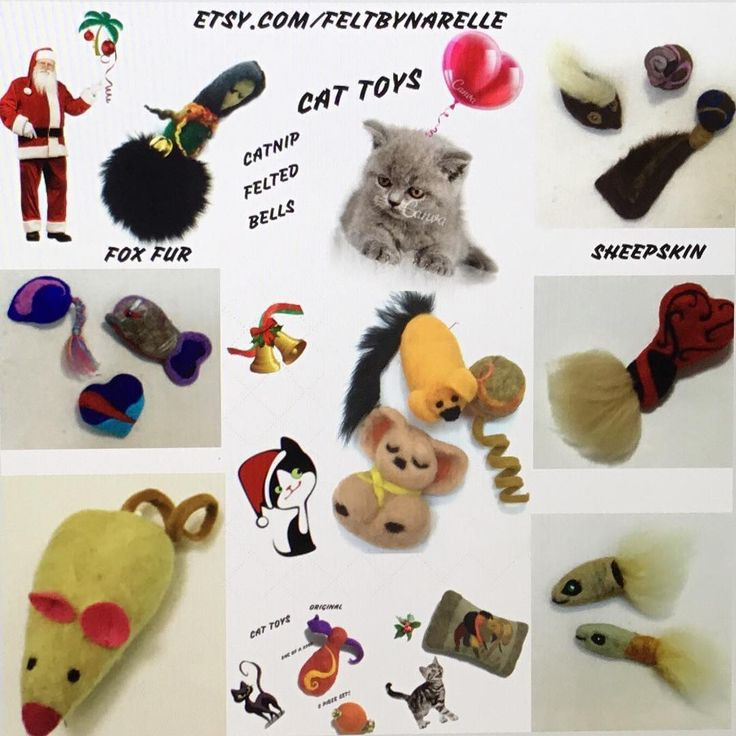 Cat Toy Selection to Compliment feltbynarelle's Cat Caves