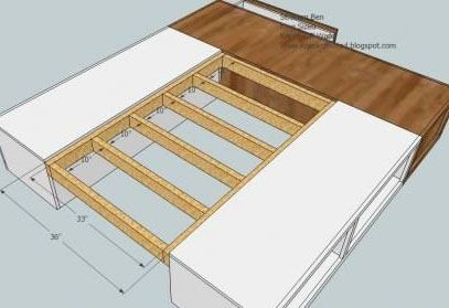 King Size Platform Bed Plans With Drawers - WoodWorking Projects ...