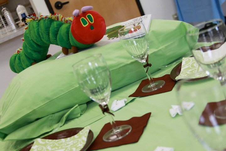 The Very Hungry Caterpillar Table Setting.