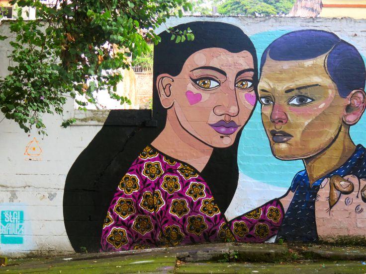 Stfi & Yalus! Mural en cali, Colombia 2016.
