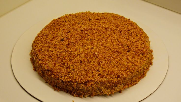 Hazelnoot-schuimtaart met mokkacrème