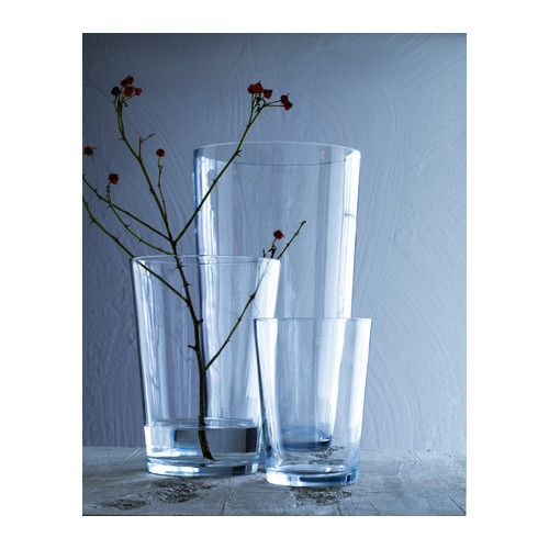BLADET Vase IKEA Mouth blown; each vase has been shaped by a skilled craftsman.