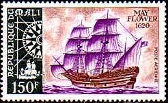 Mayflower and the Pilgrim Fathers (Stamps)