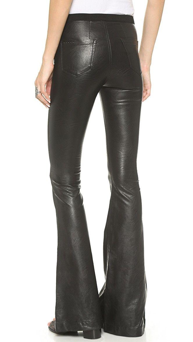 Blank Denim Faux Leather Flare Pants   SHOPBOP