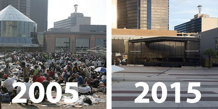 Louisiana and Mississippi were battered by Katrina in 2005. A look at the states in the aftermath of the hurricane in 2005 and now in 2015.