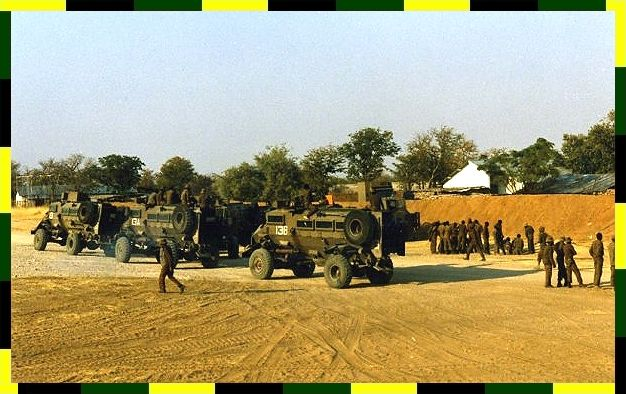 RM 13 preparing to leave a forward operational base