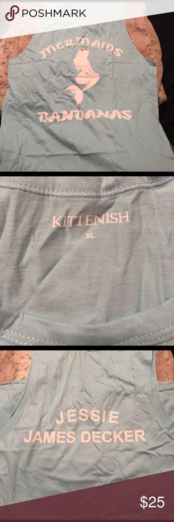 NWOT KITTENISH Mermaids and Bandanas tank Jessie James Decker NEW WORN*** Kittenish tank. It is wrinkled because I literally just took it out of the package. Rare - size XL. Super cute. Tops Muscle Tees