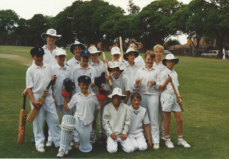 Despite being the worst batsman and bowler on the team, I always had fun thanks to great team mates. Here's a photo with the team from Shore back in 1995?