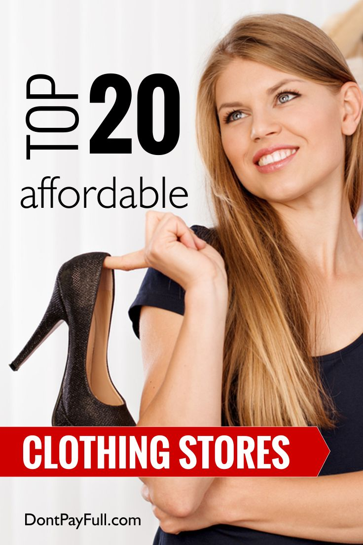 Top 20 Affordable Clothing Stores #DontPayFull