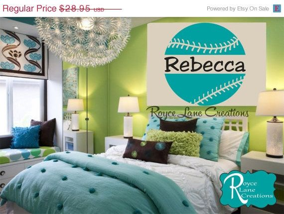 Vacation Sale Softball Wall Decal with Personalized Name B15 Sports Vinyl  Wall Decal Girls Room Teen. 49 best Carlie s Room images on Pinterest   Softball stuff  Girls