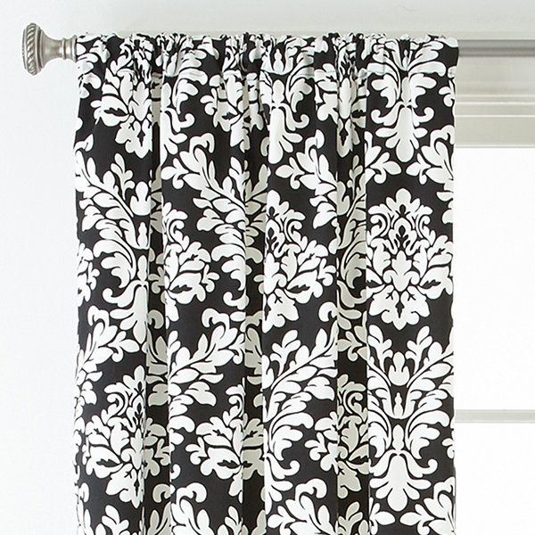 Curtains Ideas black and white damask curtains : Black And White Damask Curtain Panels - Curtains Design Gallery