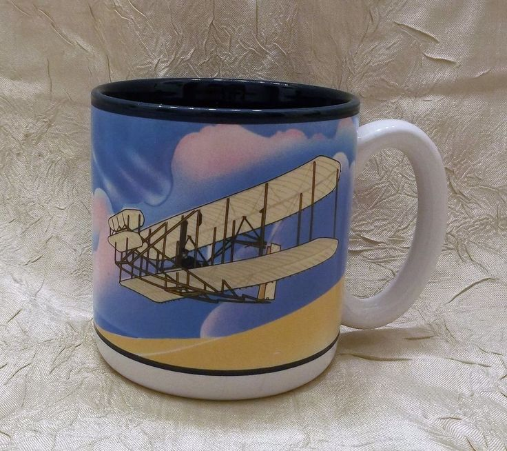 Smithsonian Institute National Air & Space Museum Wright Flyer Mug Coffee Cup