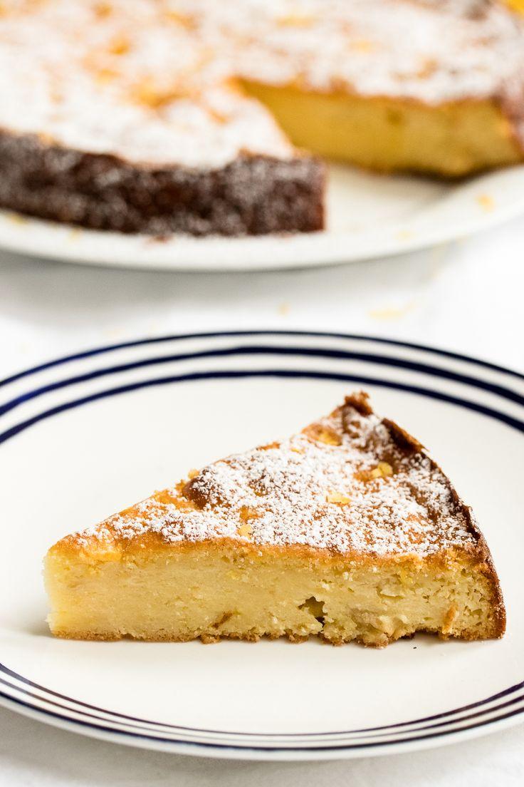 Saftiger Zitronenkuchen - dank Ricotta und geriebenem Apfel!