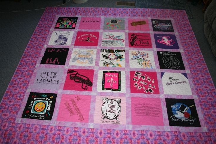 Definitely saving all my daughter's dance recital shirts for a quilt!