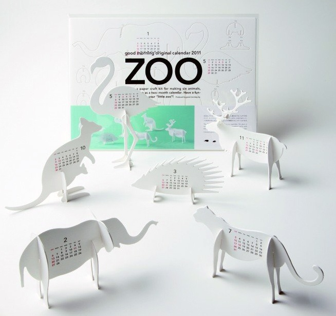 Good Morning www.goodmorning.co.jp    Animal Calendars by Japanese design studio.