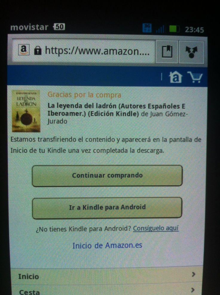 @SXenia comprando su copia de Leyenda  desde su teléfono... ¡Muchas gracias, amiga!