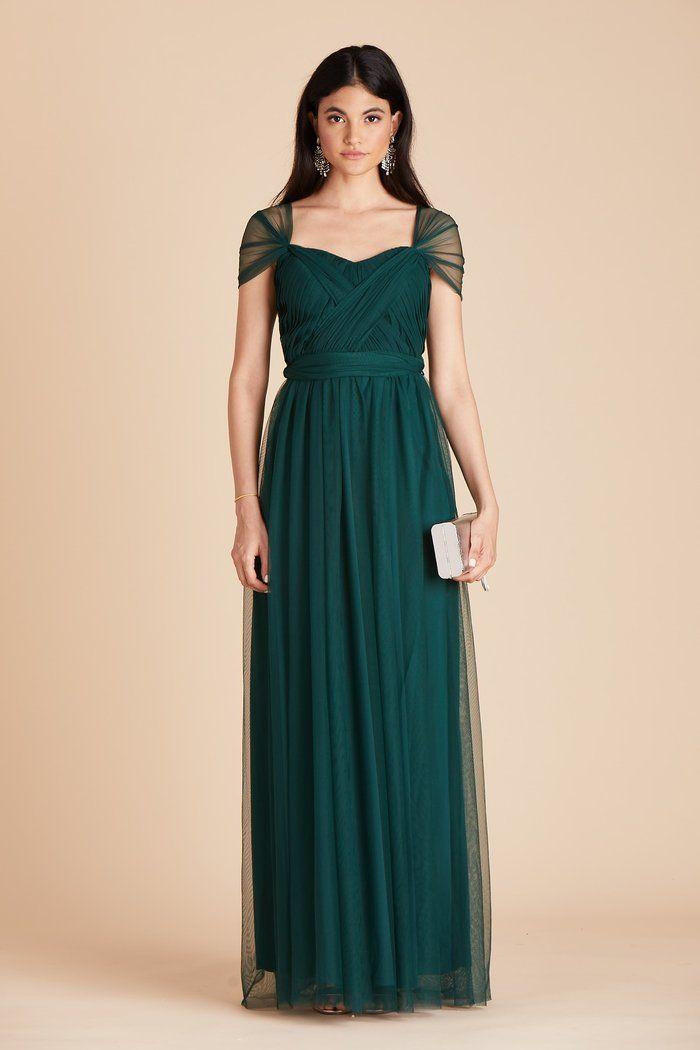 Christina Convertible Dress Emerald In 2020 Bridesmaid Dresses With Sleeves Emerald Green Bridesmaid Dresses Bridesmaid Dresses Plus Size