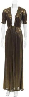 Reformation Metallic Maxi Dress