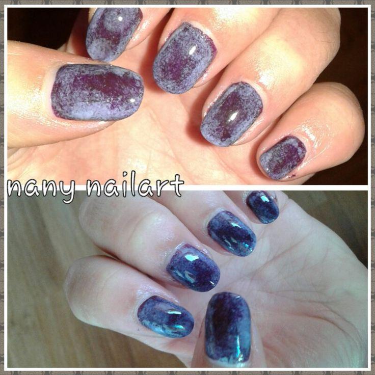 Gradient : name of the nail polish: cultured purple avon and midnight plum avon