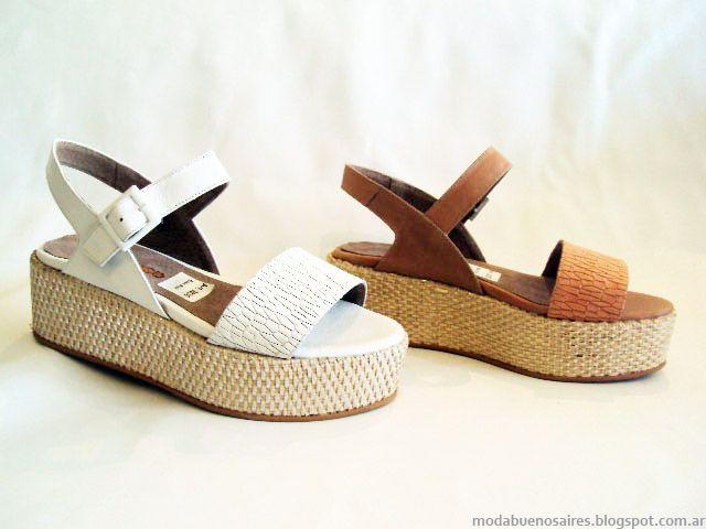 Sandalias y zapatos primavera verano 2015.