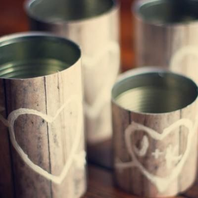 Wooden Vase DIY {Vases} OR around plastic canisters with lids for cookies