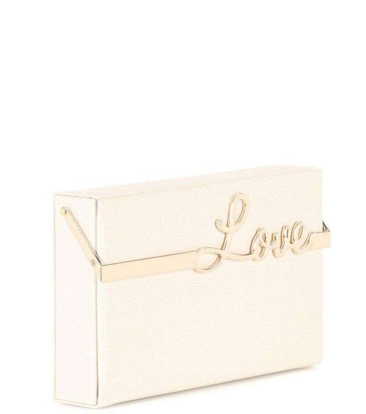 Love Vanina cream leather clutch box