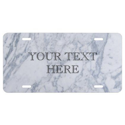 Marble Pattern License Plate - patterns pattern special unique design gift idea diy
