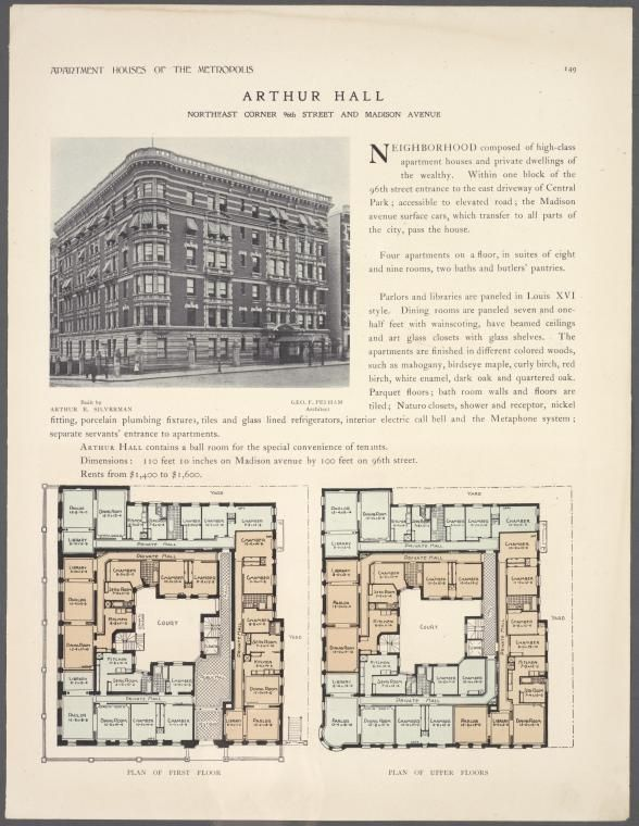 Arthur Hall Apartments Northeast Corner 96th Street And
