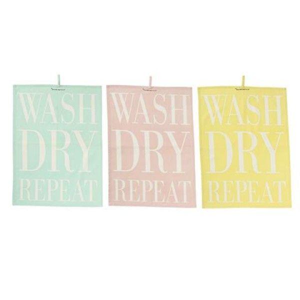 Ręcznik kuchenny WASH DRY Bloomingville sweetvillage.pl