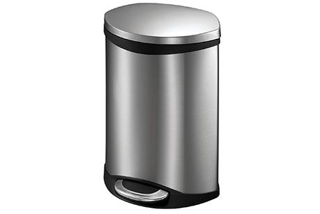 There are the sensor and the step on trash cans that make throwing trash into the bins very easy. There are bins that come in with the lid and without lids