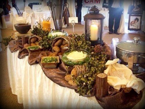 Free Baked Potato Bar For Wedding Reception